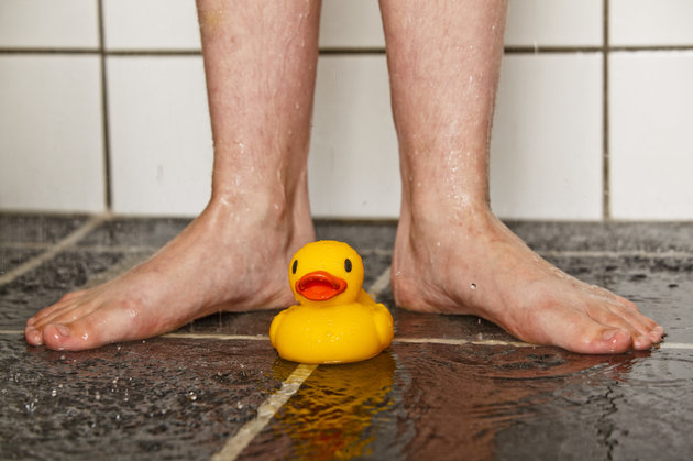 Feet and rubber duck