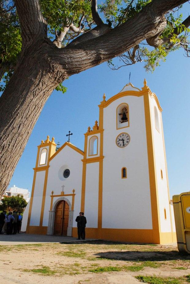 CHURCH OF PRAIA DA LUZ WHERE SUNDAY MORNING MASS AND PRAYERS WER