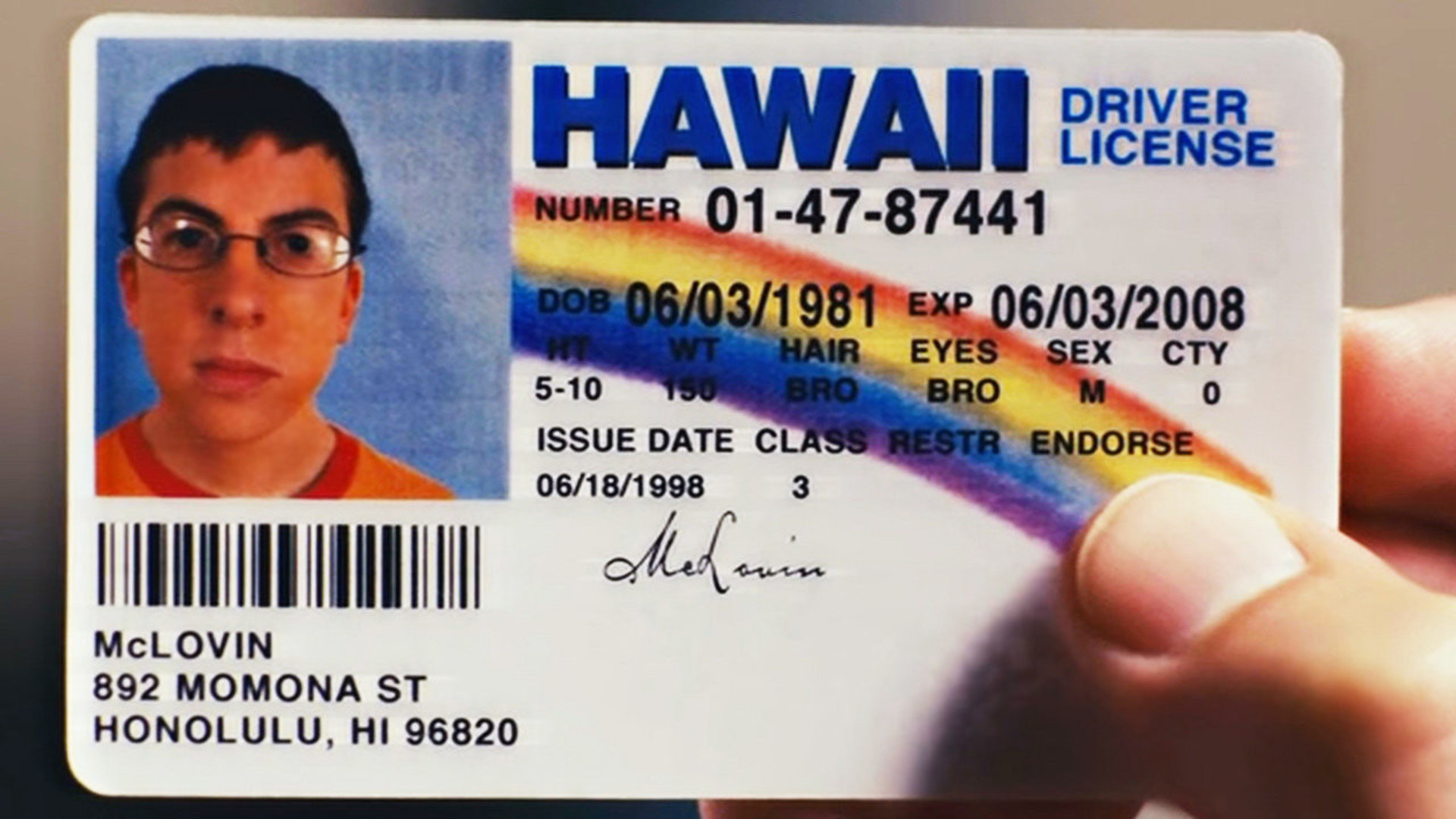 His – Dead To Officially British Man Has Sick Name Mclovin A Friend Honour Changed Chirpse