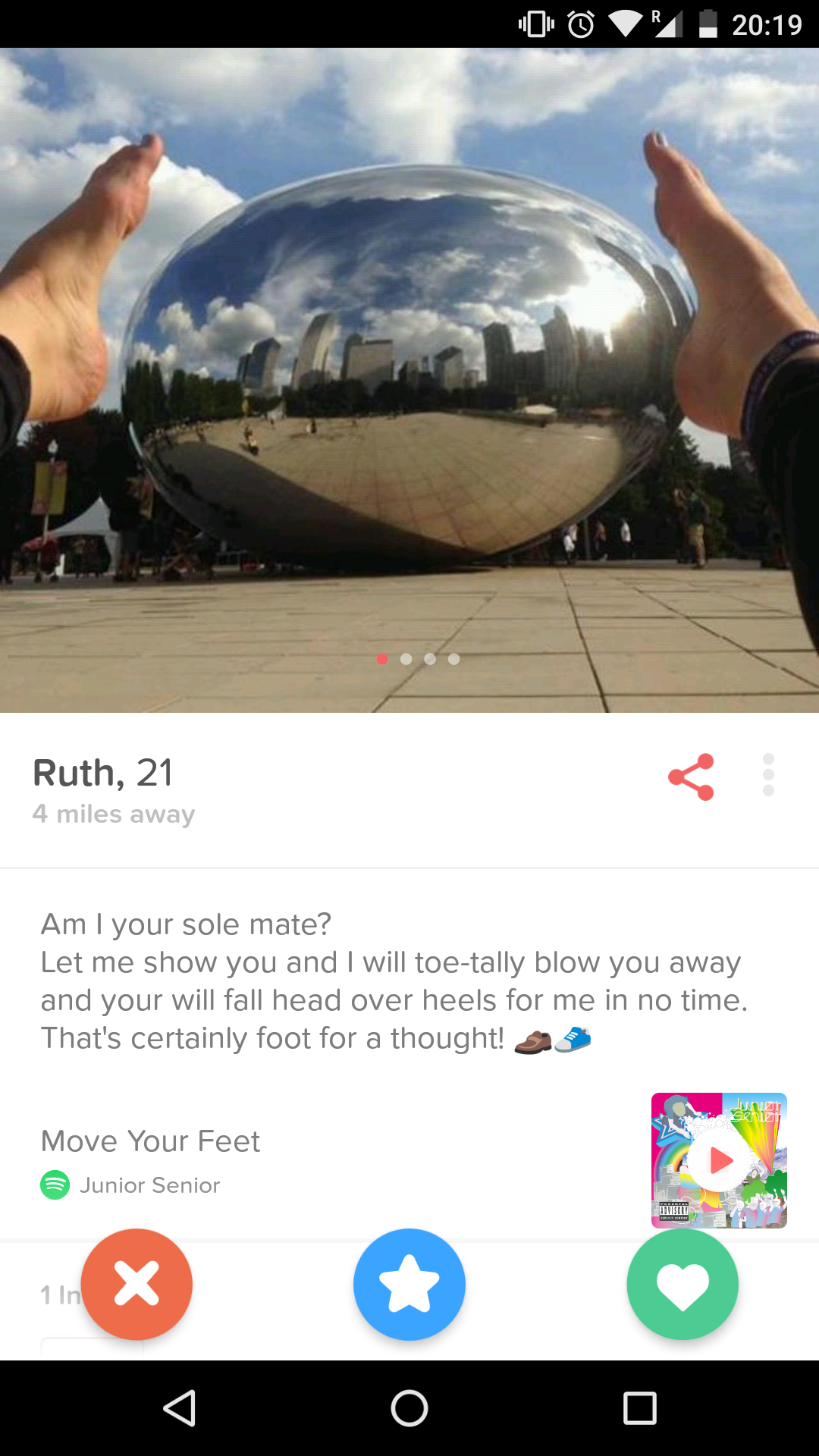 tinder foot fetish