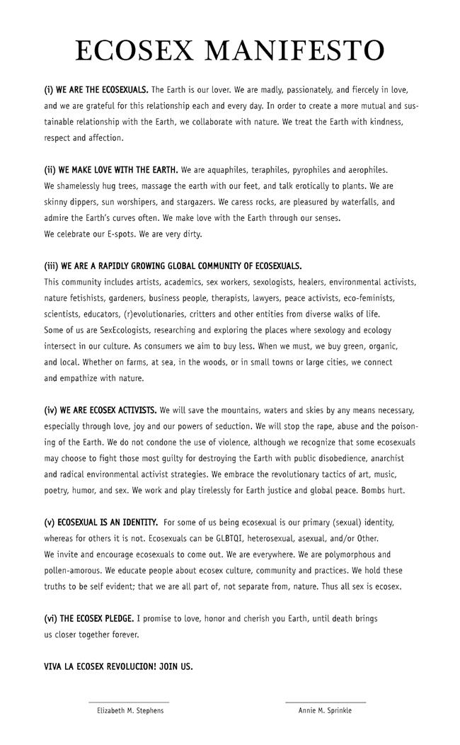 ecosex-manifesto