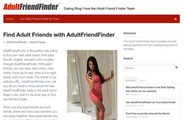 Adult dating sites blog