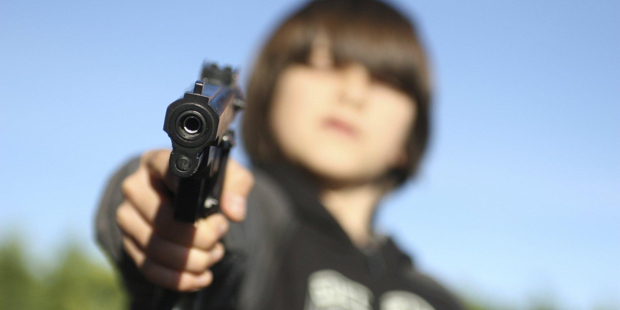 Kid with gun