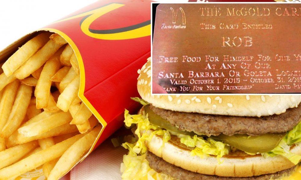 mcdonalds vip card