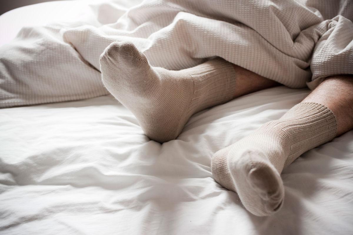 socks-bed