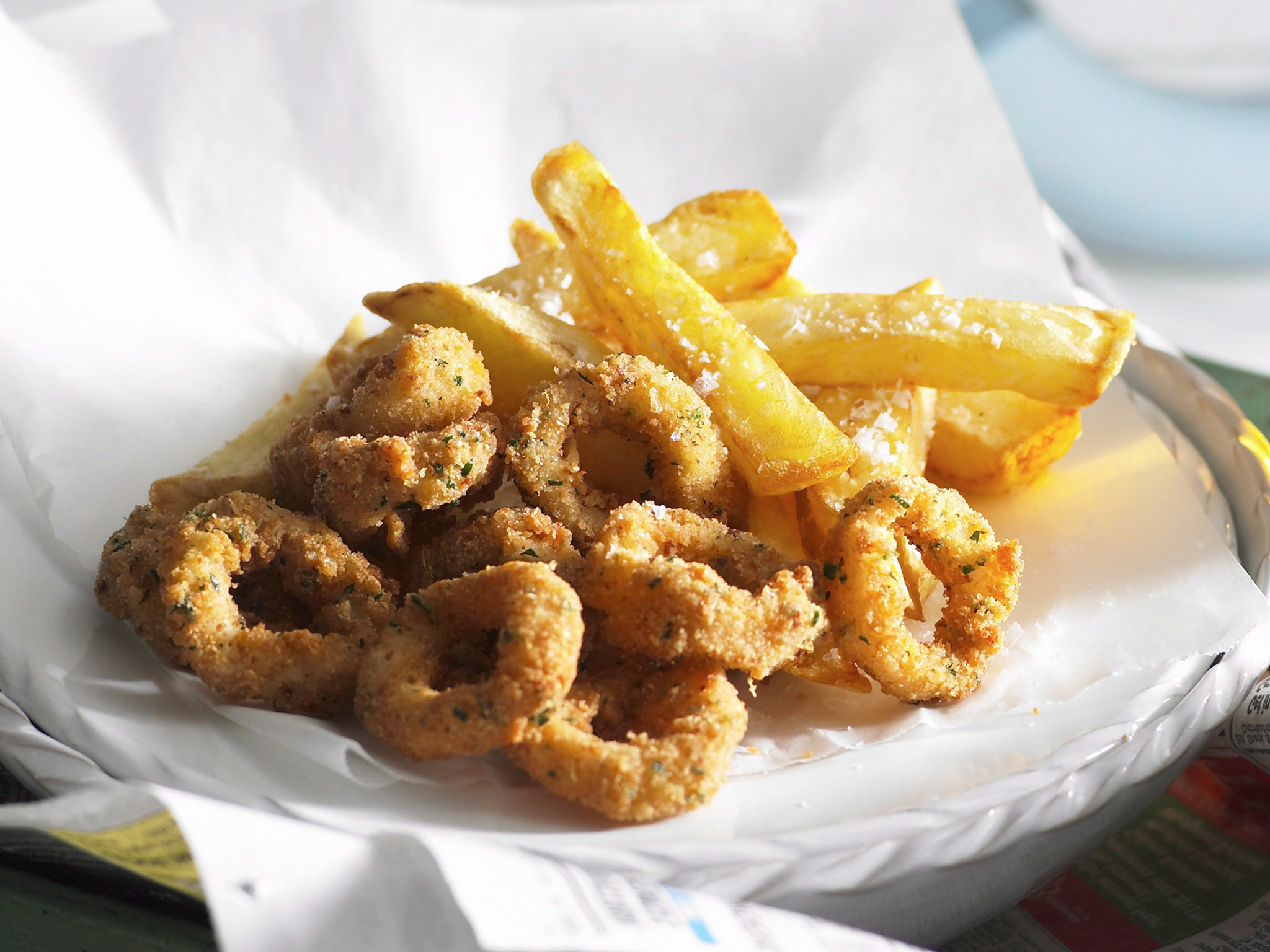 Australia Day - Calamari and Chips