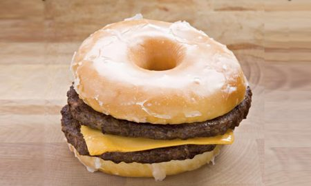 double cheeseburger glazed donut bun (Istockphoto)