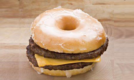 double cheeseburger glazed donut bun (Istockphoto)