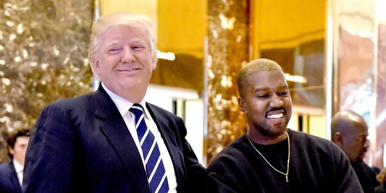 DOnald Trump Kanye West