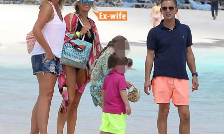 Jeremy Kyle and his wife are spotted enjoying a boatride while on holiday in Barbados