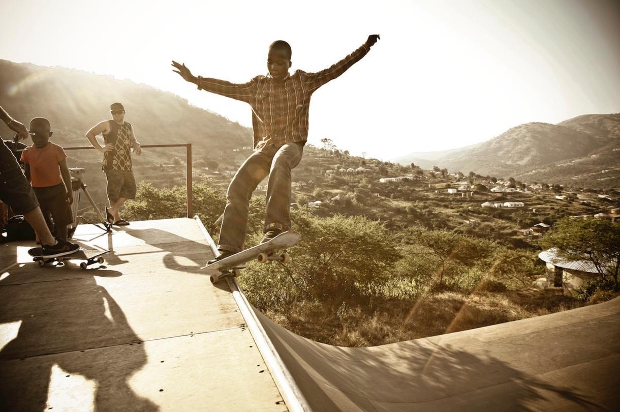 Skateboarding Rural South Africa