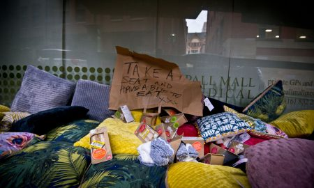 Anti homeless protest