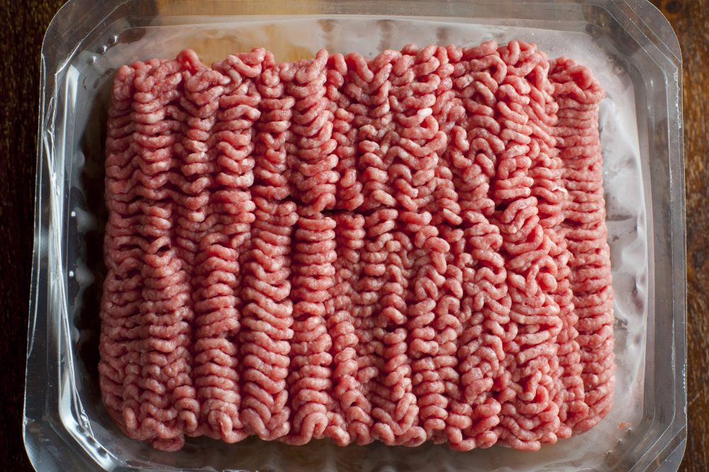 Punnet of beef mince