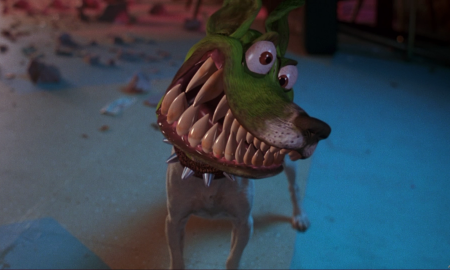 Dog from the mask
