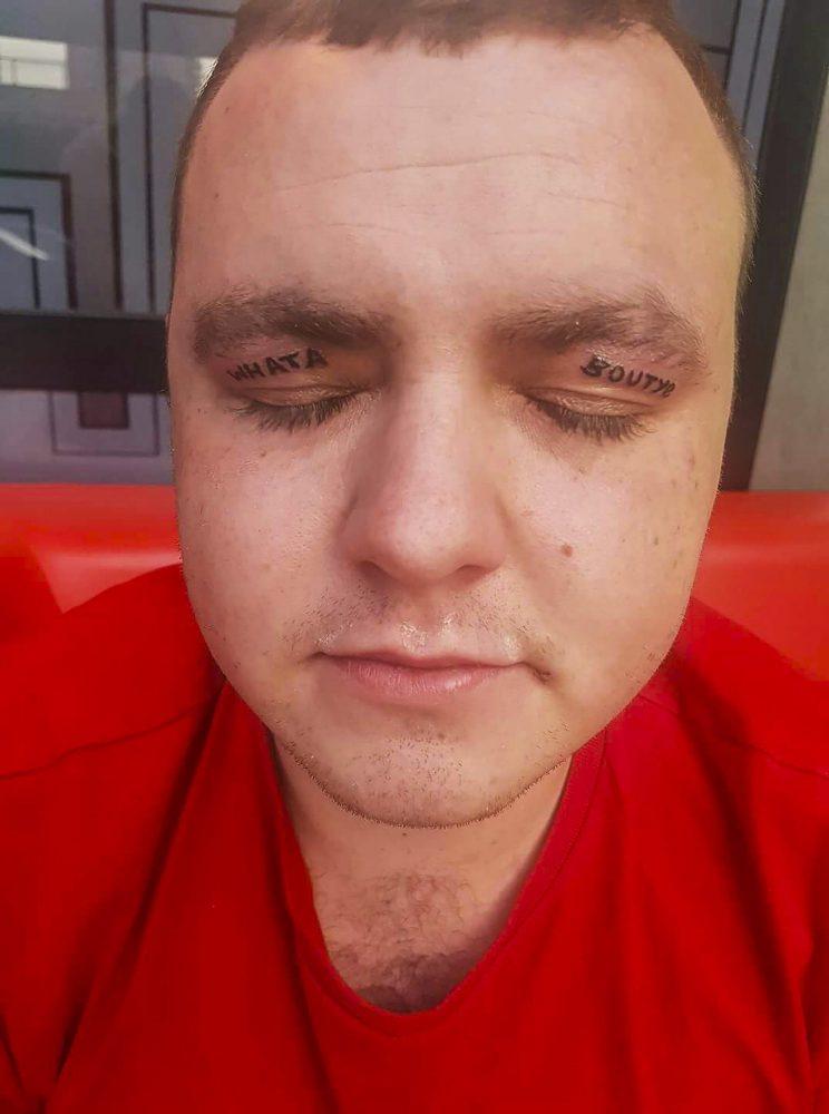 Man Tattoos Eyelids 2