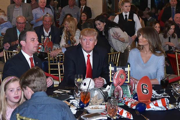 Trump Superbowl party