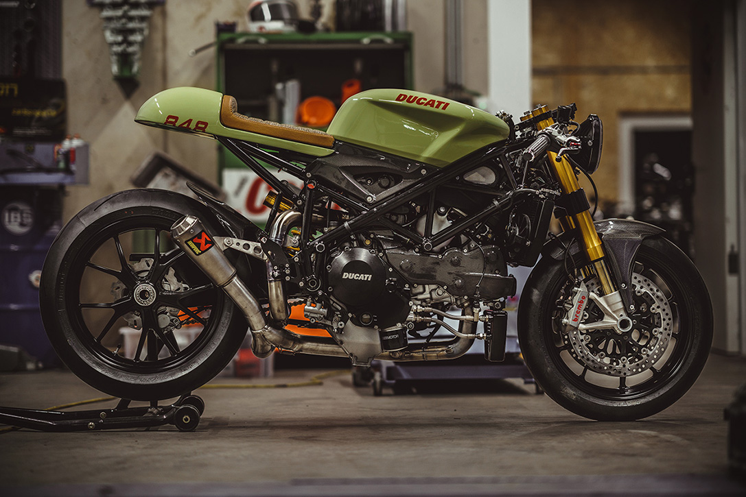 army green 140HP Ducati 848 Evo 1