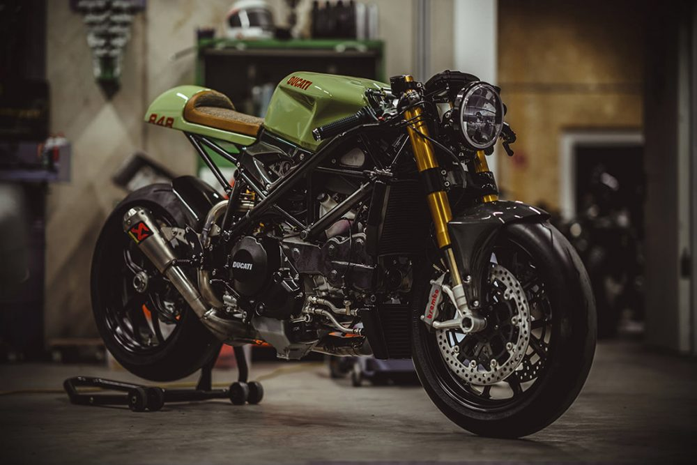army green 140HP Ducati 848 Evo 2