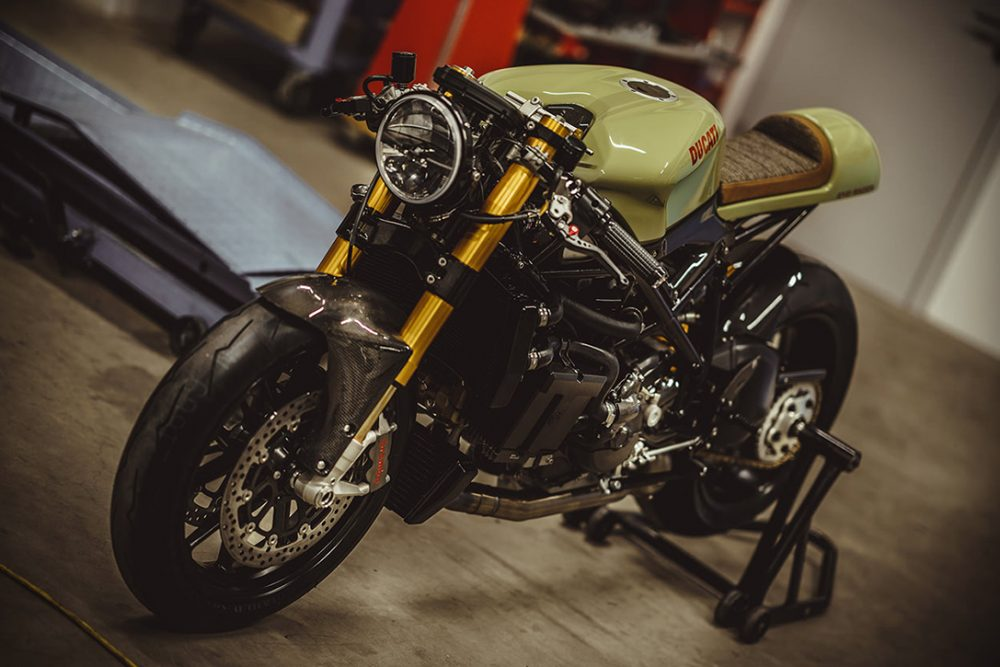 army green 140HP Ducati 848 Evo 4