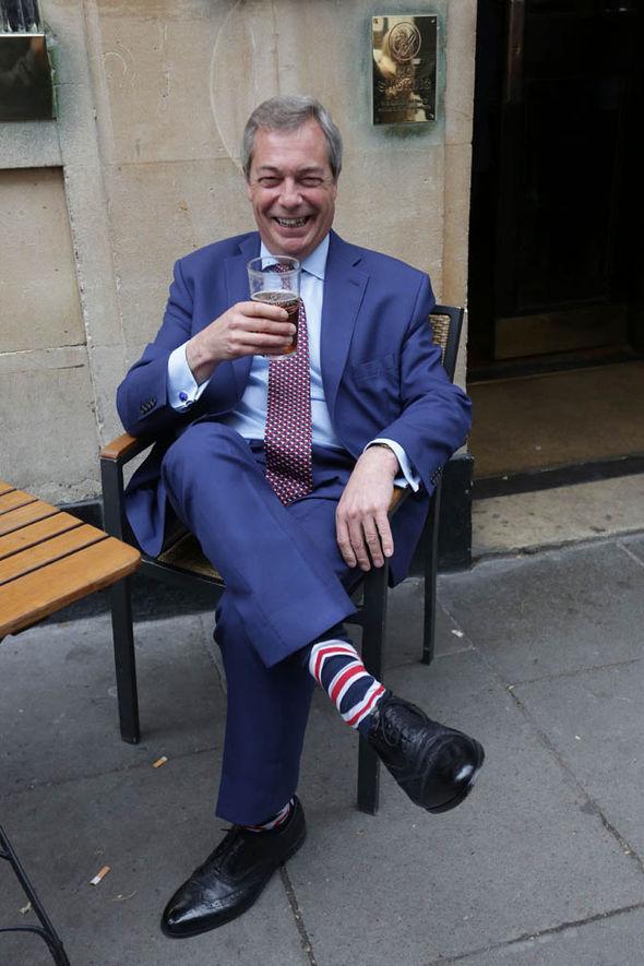 Farage pub socks