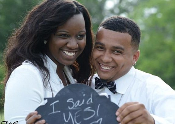 Fredzania Thompson and fiance