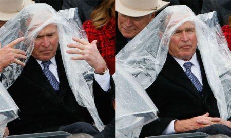 George bush poncho
