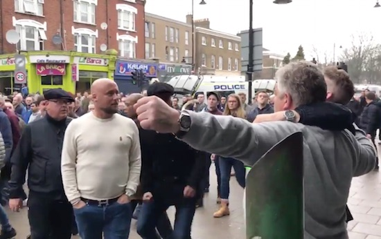 Millwall Fan Punches Spurs Fan