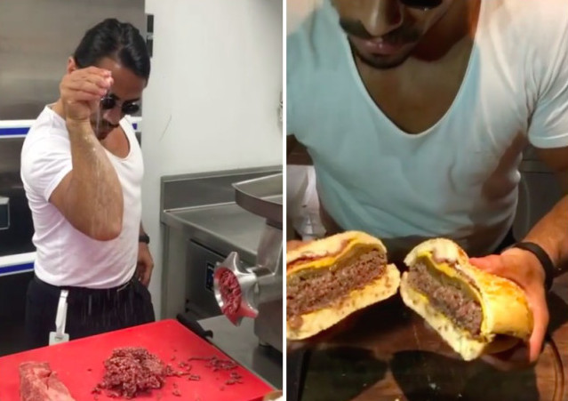 Saltbae cheeseburger