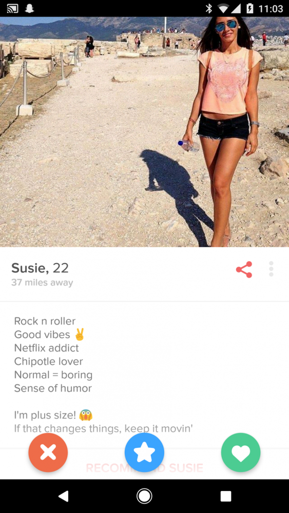 Interesting. tinder on pussy will not