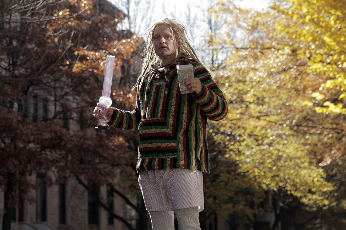 Woody Harrelson smoking weed