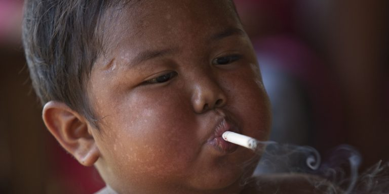 Addicted To Smoking At Two Years Old