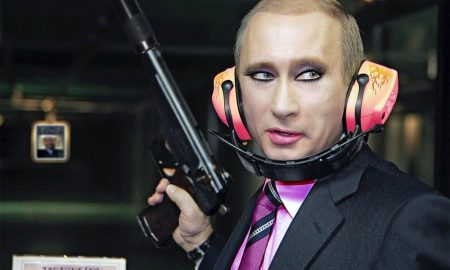 Putin wearing make up