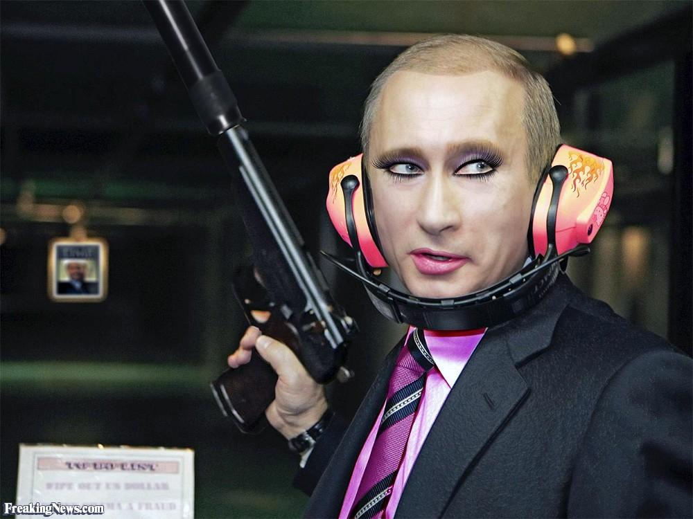 Putin wearing make up
