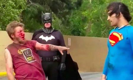 Superman vs homeless man