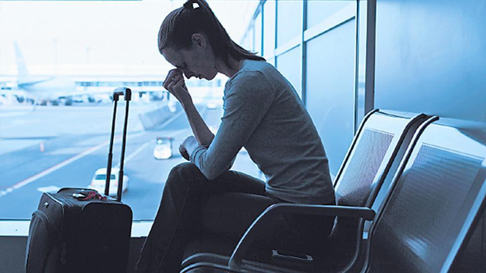 Upset Girl AIrport
