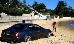 Australian Guy parked Car Beach Golf
