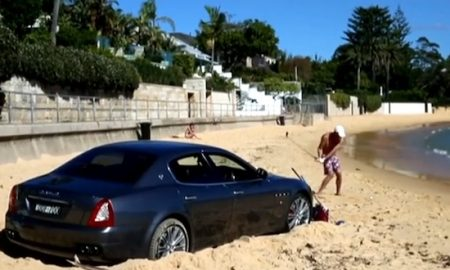 Australian Guy parked Car Beach Golf