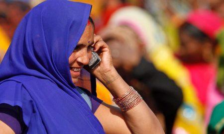 Indian Woman MobileIndian Woman Mobile