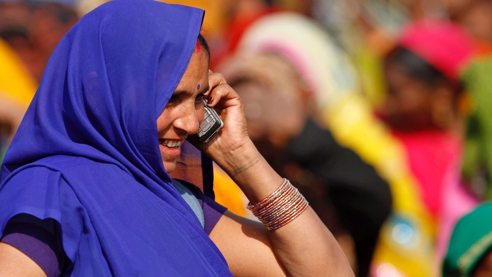 Indian Woman MobileIndian Woman Mobile