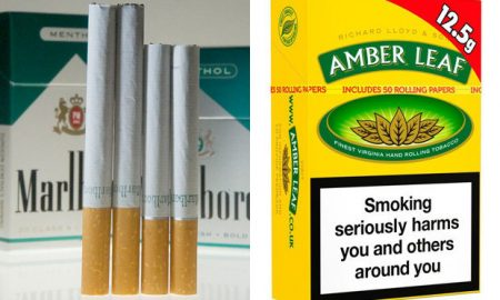 Menthol and tobacco