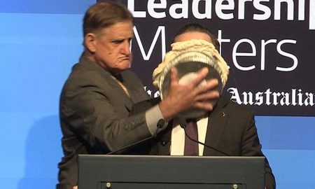 Qantas CEO Pie In Face