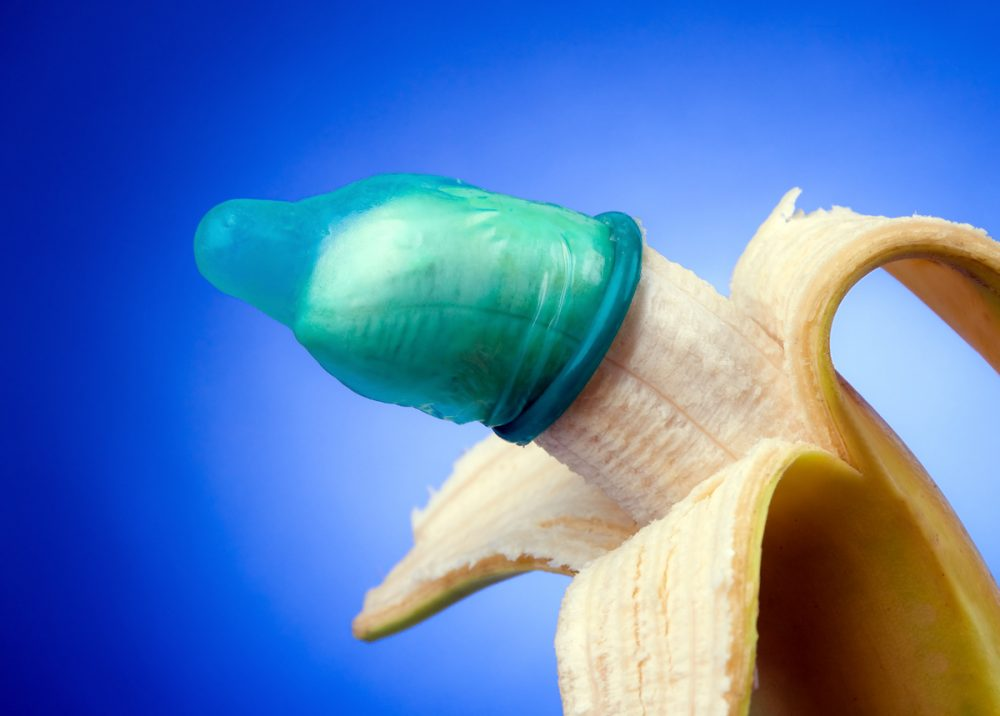 Banana Covered with Condom