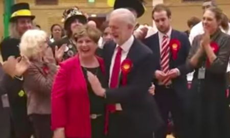 Jeremy Corbyn high five