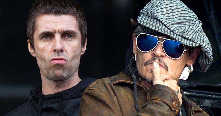 Liam Gallagher Johnny Depp