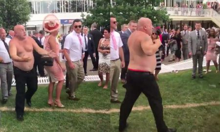 Man fight Ascot shirtless