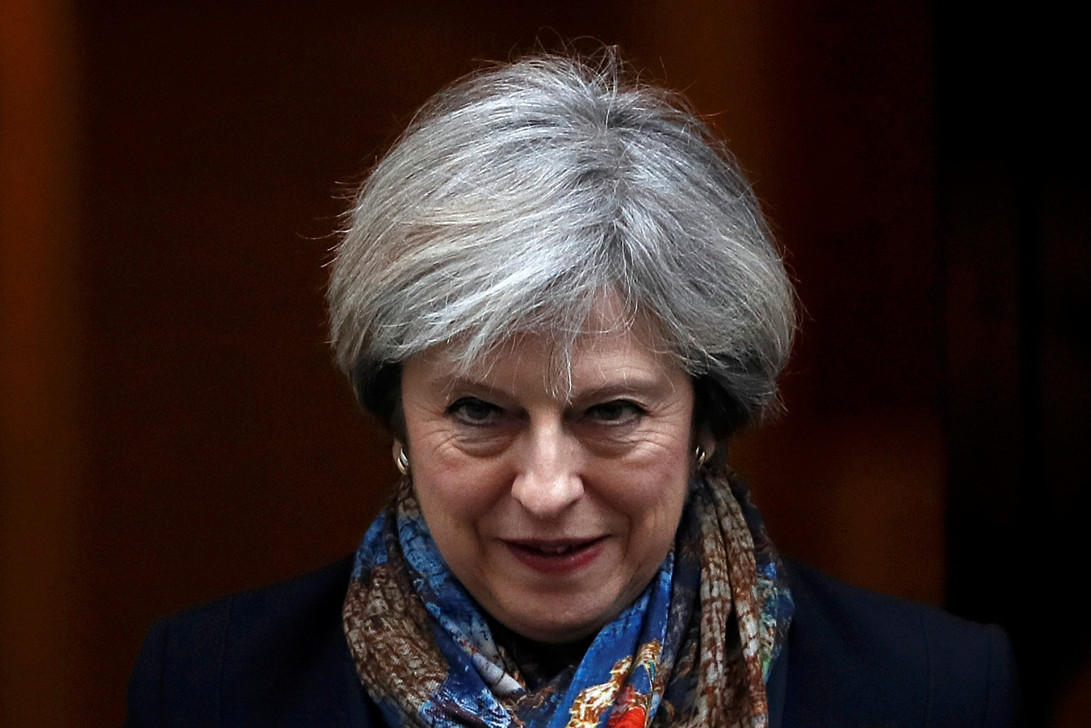 Britain's Prime Minister Theresa May leaves Number 10 Downing Street in London, Britain January 24, 2017. REUTERS/Stefan Wermuth TPX IMAGES OF THE DAY - RTSX4R2