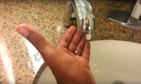 Racist soap dispenser