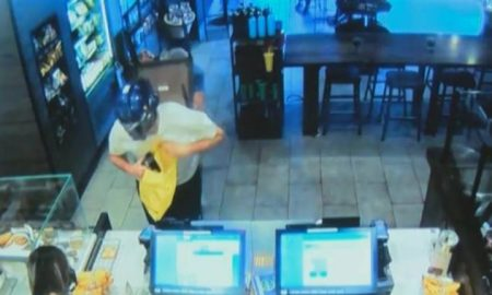 Starbucks Optimus Prime Robber