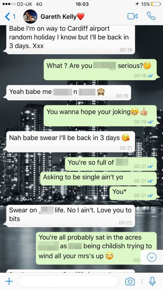 LAD GOES FOR QUICK PINT WITH PALS - THEN TEXTS GIRLFRIEND TO INFORM HE IS ON WAY TO IBIZA