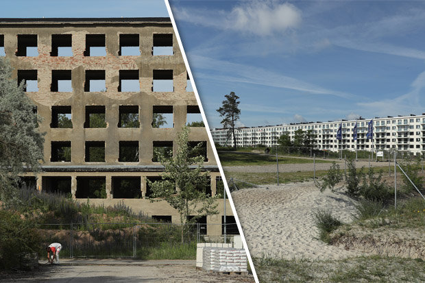 The Prora before and after